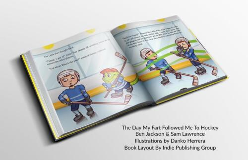 The Day My Fart Followed Me To Hockey Book